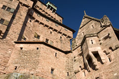 城堡haut koenigsbourg 库存照片