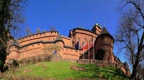 城堡haut koenigsbourg 免版税库存图片