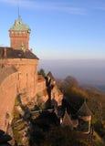城堡haut koenigsburg 免版税库存照片
