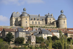 城堡hautefort 免版税库存照片