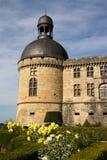 城堡Hautefort Dordogne法国 免版税库存照片