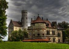 城堡hdr利希滕斯泰因 免版税库存照片