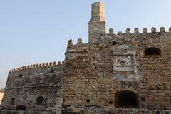 城堡heraklion墙壁 免版税库存图片
