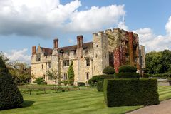 城堡hever英国 免版税库存图片