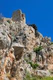 城堡hilarion修道院圣徒 免版税库存图片