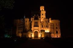 城堡hluboka 库存图片