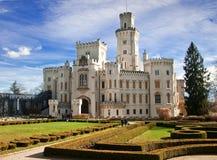 城堡hluboka 免版税库存照片