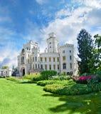 城堡hluboka nad塔vltavou 免版税图库摄影