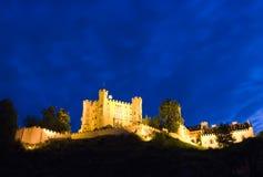 城堡hohenschwangau晚上 库存照片
