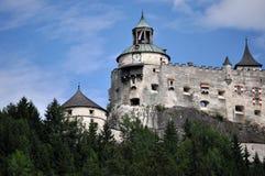城堡Hohenwerfen,奥地利 库存照片