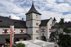 城堡Hohenwerfen,奥地利 库存图片