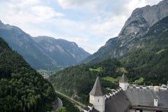 城堡Hohenwerfen,奥地利 图库摄影