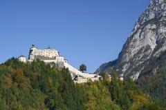 城堡hohenwerfen 库存图片