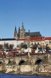城堡hradcany布拉格 图库摄影