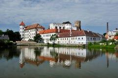 城堡hradec jindrichuv 库存图片