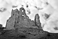 城堡HruÅ ¡ ov废墟  图库摄影