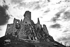 城堡HruÅ ¡ ov废墟  库存照片