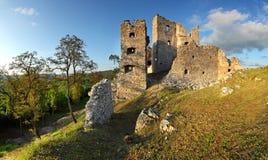 城堡hrusov废墟 免版税图库摄影