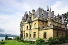 城堡Hunegg Hilterfingen 库存图片