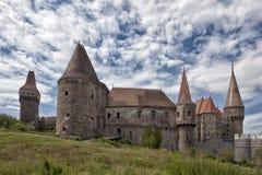 城堡huniazilor 免版税库存图片