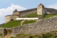 城堡ii rasnov 免版税库存图片