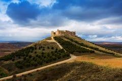 城堡jadraque 西班牙 库存照片
