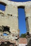城堡janowiec老墙壁 免版税图库摄影