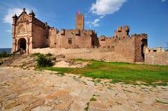 城堡javier ・西班牙 免版税库存图片
