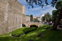 城堡jorge ・里斯本圣地 免版税图库摄影