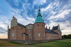城堡kalmar瑞典 库存图片