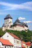 城堡karlstein 免版税图库摄影