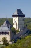 城堡karlstejn 库存图片