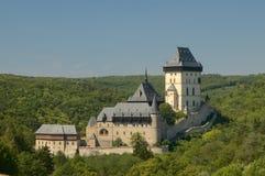 城堡karlstejn 库存照片