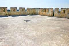城堡kolossi屋顶 库存图片