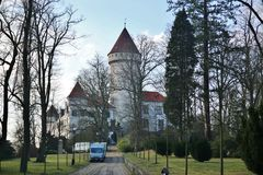 城堡Konopiste在捷克 免版税图库摄影