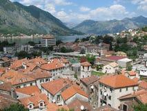 城堡kotor montenegro视图 图库摄影
