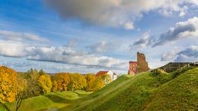 城堡kremenec破坏乌克兰 免版税库存图片