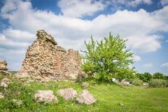 城堡kremenec破坏乌克兰 库存照片