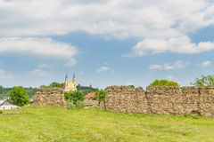城堡kremenec破坏乌克兰 免版税库存照片