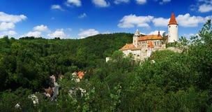 城堡krivoklat全景 免版税库存图片