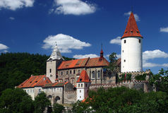 城堡krivoklat 免版税库存图片