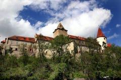 城堡krivoklat 库存照片