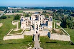 城堡krzyztopor波兰破坏ujazd 免版税库存照片