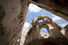 城堡krzyztopor老波兰废墟 库存照片