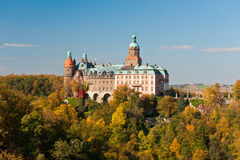 城堡Ksiaz 免版税图库摄影