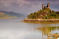 城堡kyleakin maol 免版税库存图片