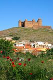 城堡lacalahorra西班牙 库存图片