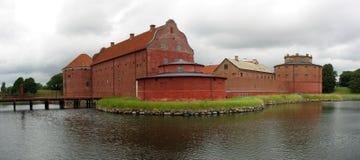 城堡landskrona全景 库存图片