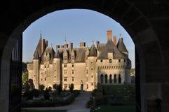 城堡langeais 免版税图库摄影