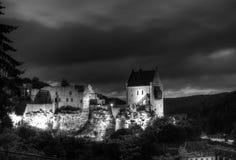 城堡larochette medevial的卢森堡 免版税库存照片
